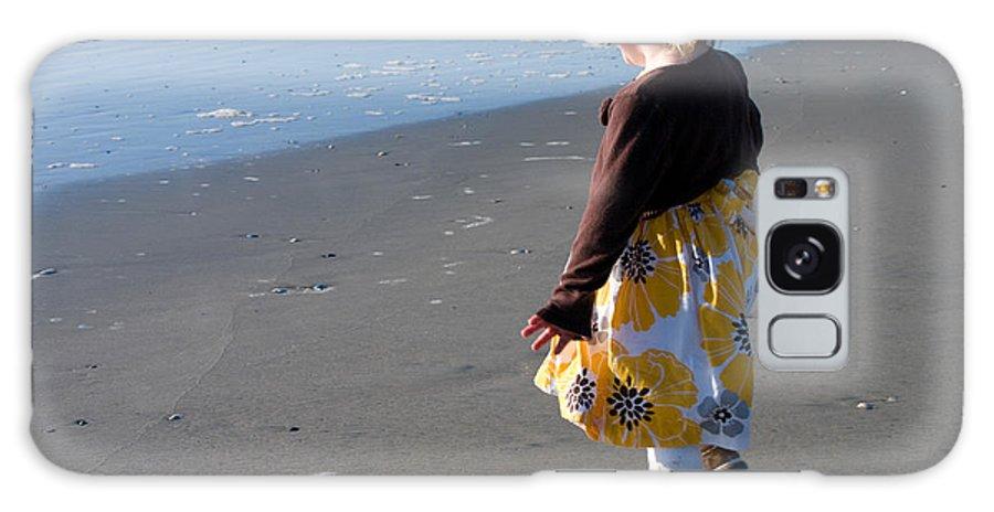 Beach Galaxy S8 Case featuring the photograph Girl On Beach by Greg Graham