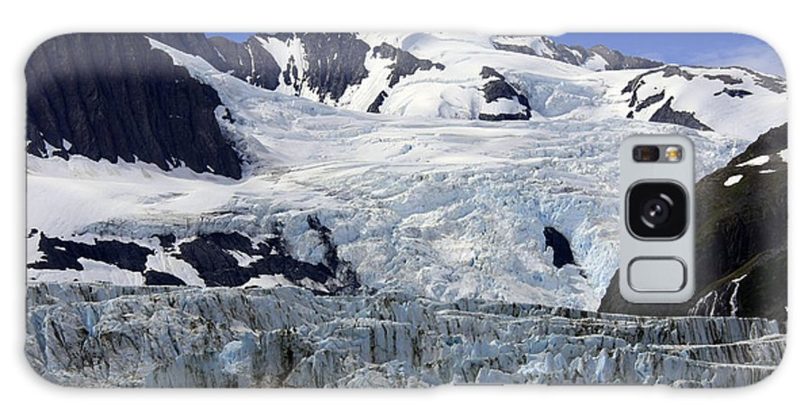 Global Iceberg Scenic Warming Mountain Outdoors Marine Water Rugged Landscape Ocean Aqua Vacation Nature Environment Melt Blue Ice Icy Natural Spring Cold Fjord Alaska Conservation Travel Summer Impressive Galaxy S8 Case featuring the photograph Glacier From Up High by Gladys Turner Scheytt