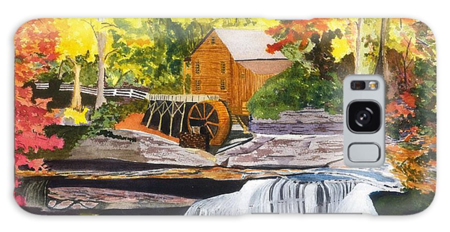 Glade Creek Grist Mill Galaxy S8 Case featuring the painting Glade Creek Grist Mill by David Bartsch