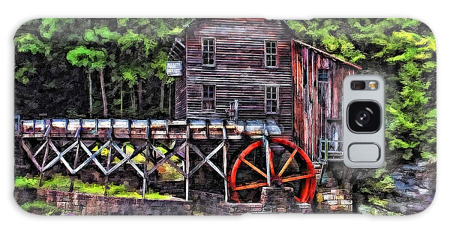Mill Galaxy S8 Case featuring the photograph Glade Creek Grist Mill Painter Version by Steve Harrington