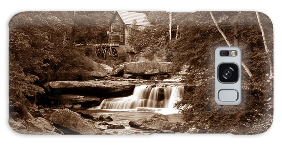 Mill Galaxy S8 Case featuring the photograph Glade Creek Mill In Sepia by Tom Mc Nemar