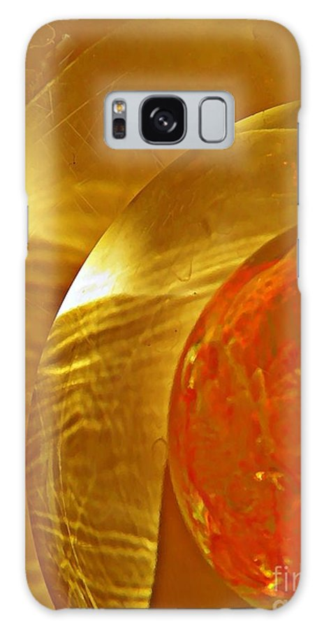 Abstract Galaxy S8 Case featuring the photograph Glass Abstract 582 by Sarah Loft