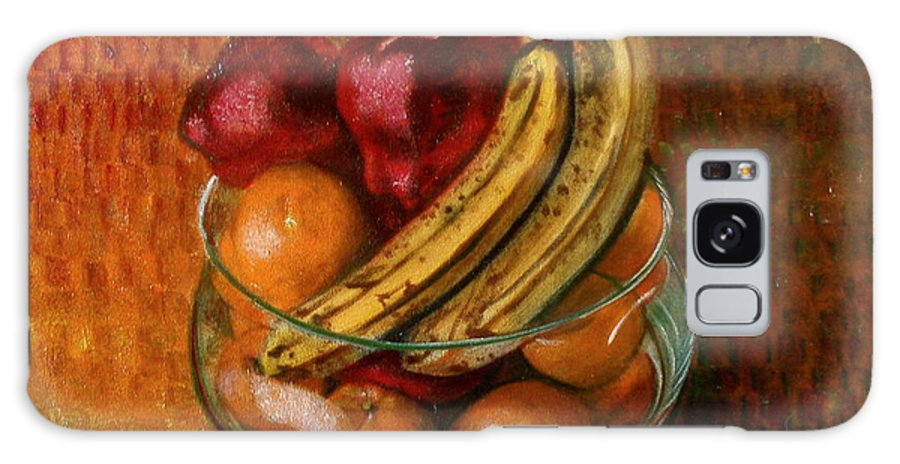 Still Life Galaxy S8 Case featuring the painting Glass Bowl Of Fruit by Sean Connolly
