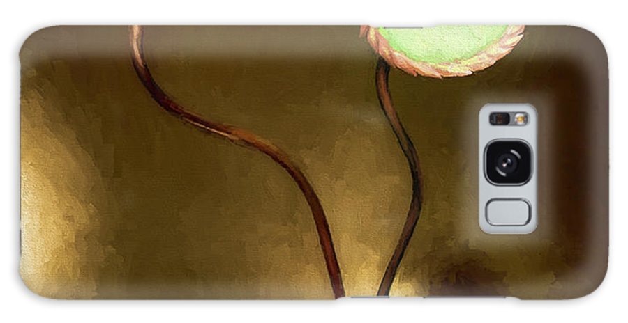 Fine Art Galaxy Case featuring the painting Glass Flowers by David Wagner