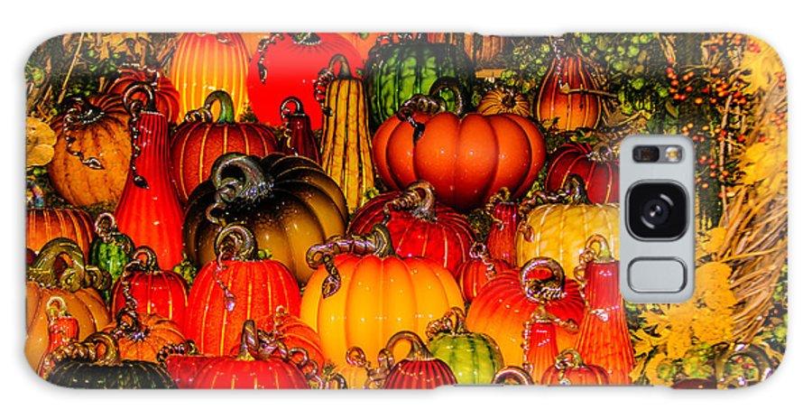 Pumpkins Galaxy S8 Case featuring the photograph Glass Pumpkins by Louis Dallara