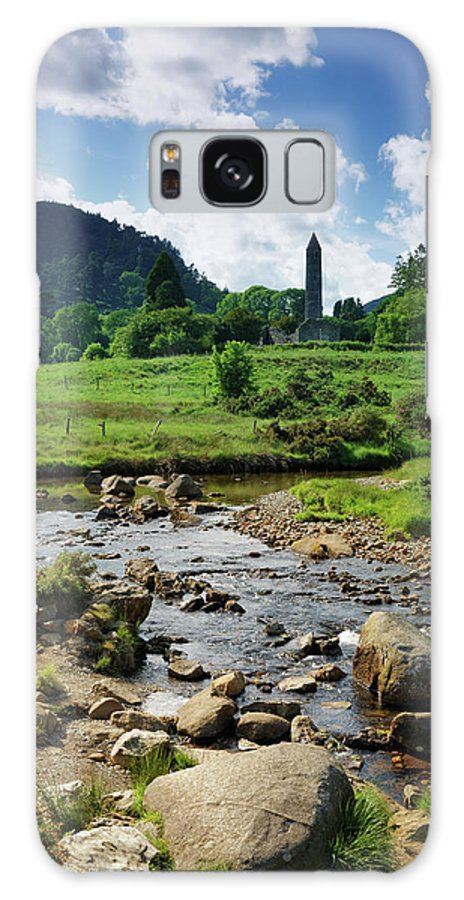 Scenics Galaxy Case featuring the photograph Glendalough Creek With The Old Monastic by Mammuth