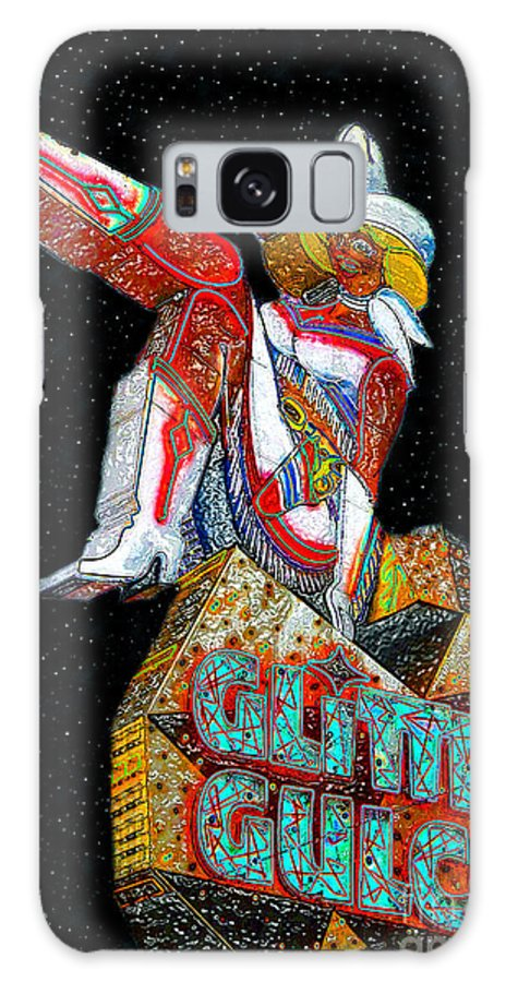 Art Galaxy S8 Case featuring the painting Glitter Gulch Girl by David Lee Thompson