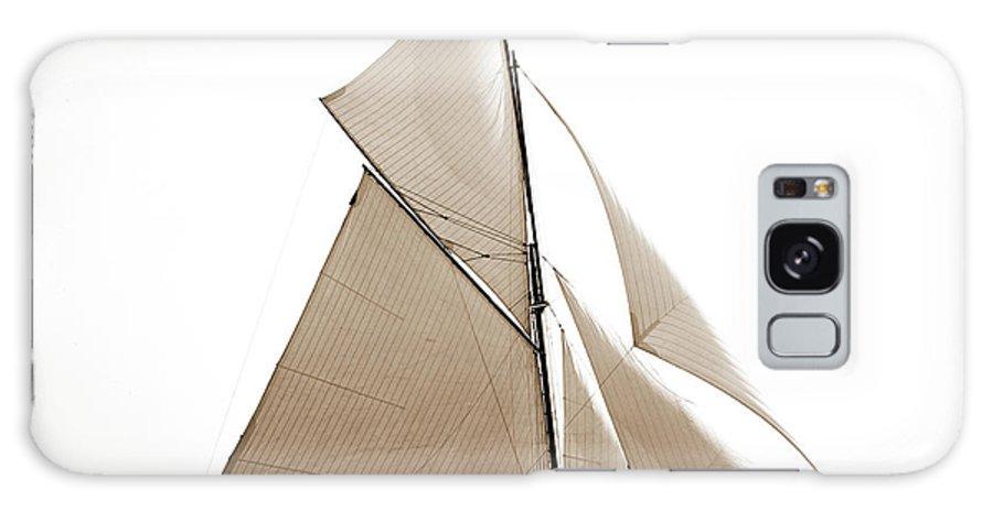Gloriana Galaxy S8 Case featuring the drawing Gloriana, Corinthian Sweepstakes, Corinthian Yacht Club by Litz Collection