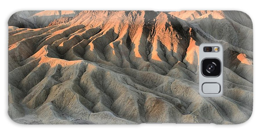 Zabriskie Point Galaxy S8 Case featuring the photograph Glowing Badlands Tips by Adam Jewell