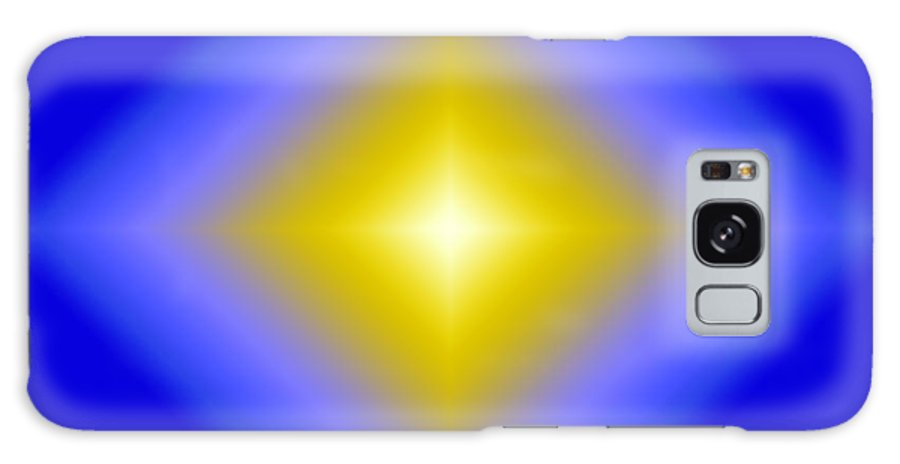 Beautiful Galaxy S8 Case featuring the digital art Glowing Star On Blue by Karen Nicholson
