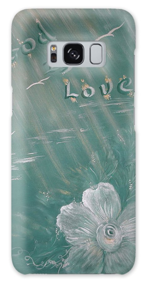 Christian Art Galaxy Case featuring the painting God Is Love by Mary Grabill