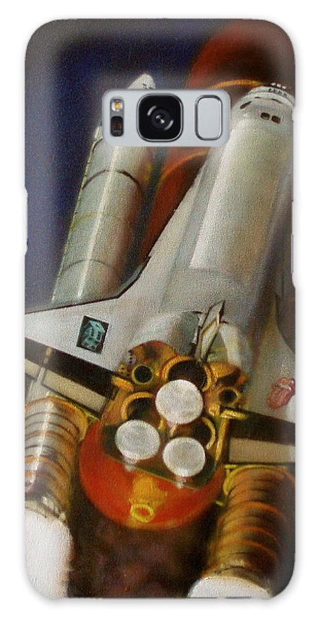 Space Shuttle;launch;liftoff;blastoff;rockets;engines;astronauts;spaceart;nasa;photorealism Galaxy S8 Case featuring the painting God Plays Dice by Sean Connolly