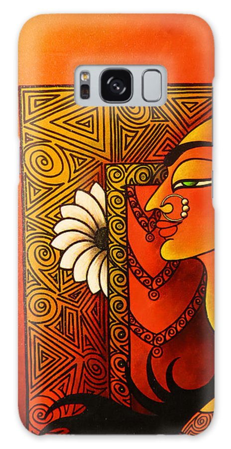 Goddess Galaxy S8 Case featuring the painting Goddess Of Creation by Sonali Chaudhari