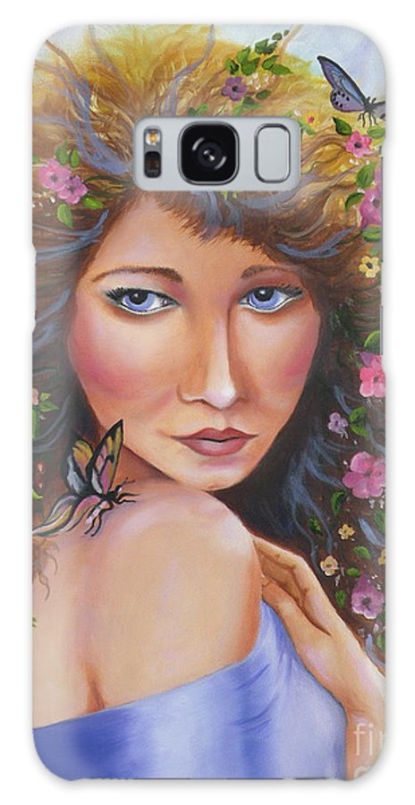 Woman Galaxy S8 Case featuring the painting Spring Beauty by Lora Duguay