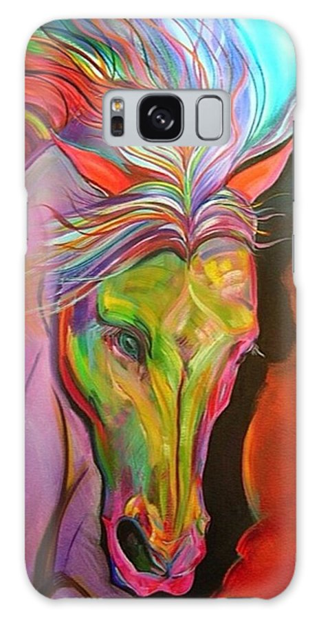 Horse Galaxy S8 Case featuring the painting God's War Horse by Marie Clark