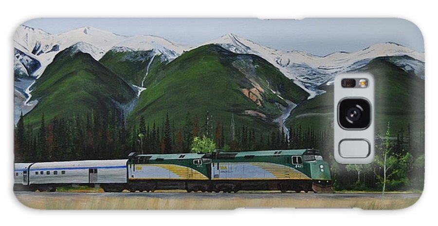 Via Rail Galaxy S8 Case featuring the painting Going Home by Glen Frear