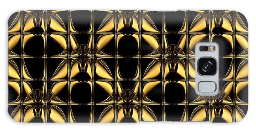 Gleaming Gold Galaxy S8 Case featuring the digital art Gold Metallic 8 by Patricia Keith