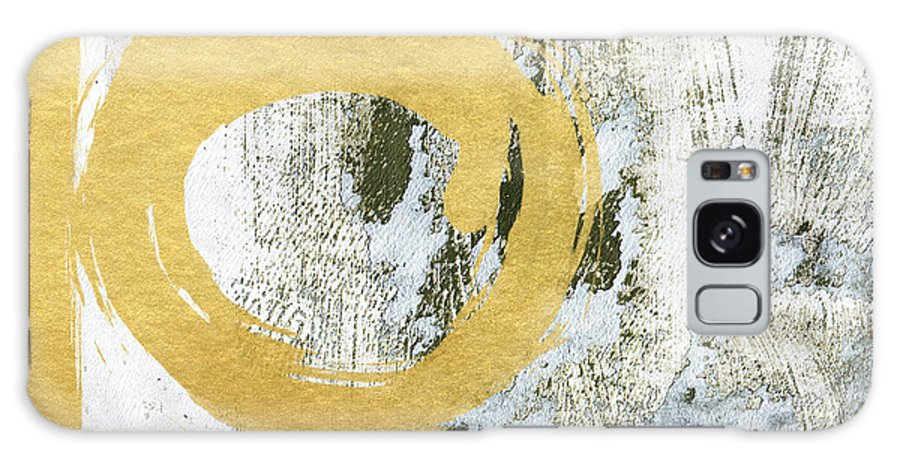 Gold Galaxy S8 Case featuring the painting Gold Rush - Abstract Art by Linda Woods