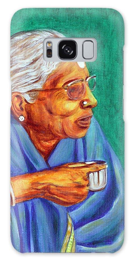 Usha Galaxy S8 Case featuring the painting Golden Age 2 by Usha Shantharam