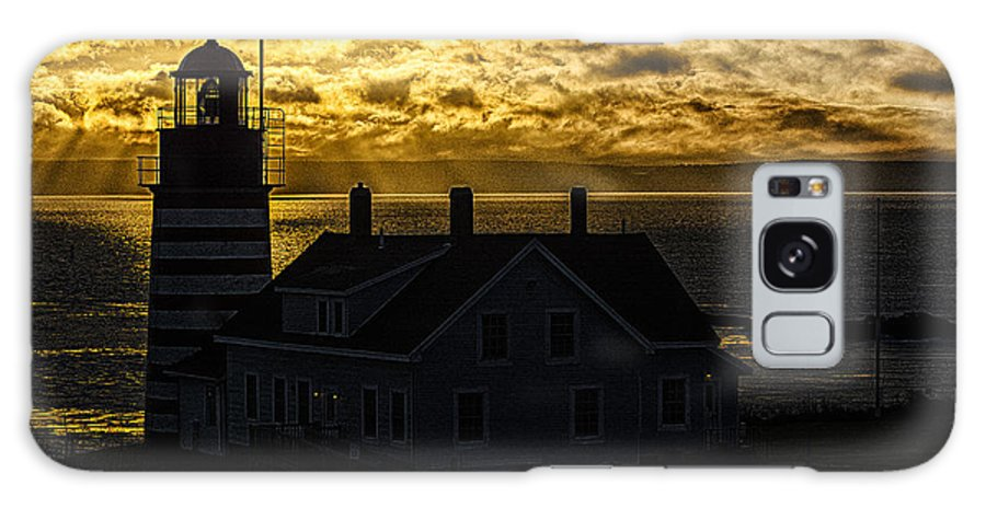 Golden Light Galaxy S8 Case featuring the photograph Golden Backlit West Quoddy Head Lighthouse by Marty Saccone