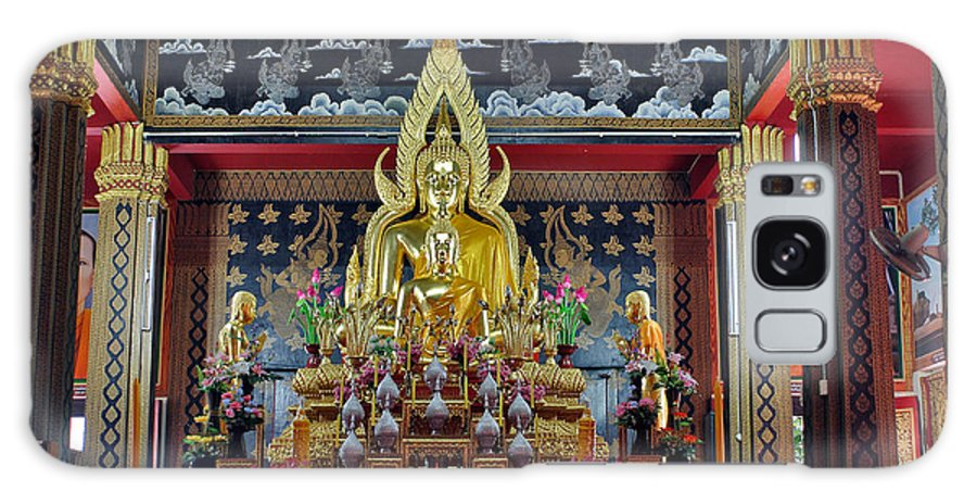 3scape Galaxy Case featuring the photograph Golden Buddha by Adam Romanowicz