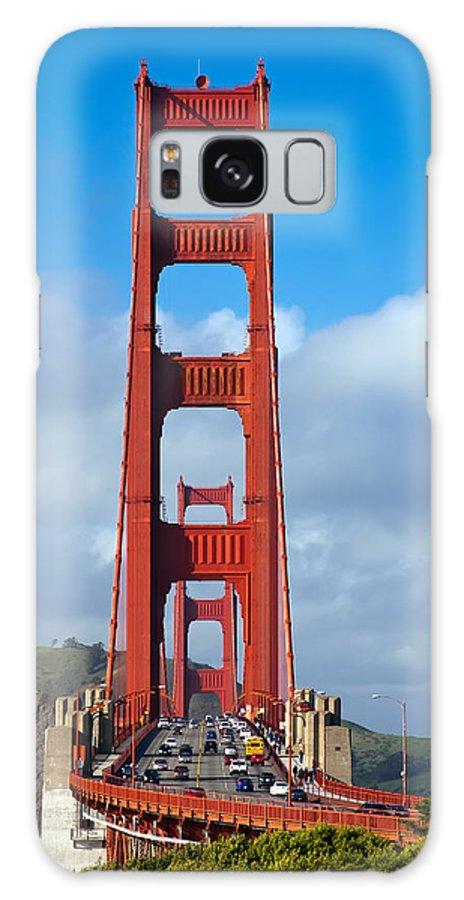 3scape Galaxy S8 Case featuring the photograph Golden Gate Bridge by Adam Romanowicz