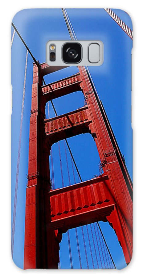 Golden Gate Bridge Galaxy S8 Case featuring the photograph Golden Gate Tower by Rona Black