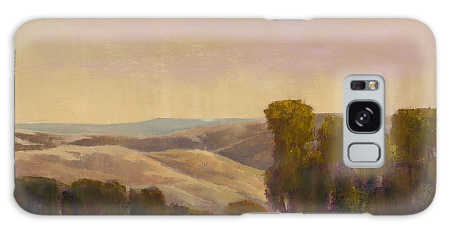 Landscape Galaxy S8 Case featuring the painting Golden Hour by Ray Mitchell