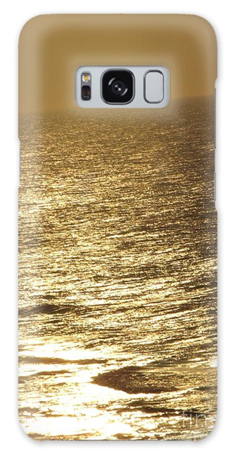 Gold Galaxy S8 Case featuring the photograph Golden Moonlight Or Moon Surface by Gail Matthews