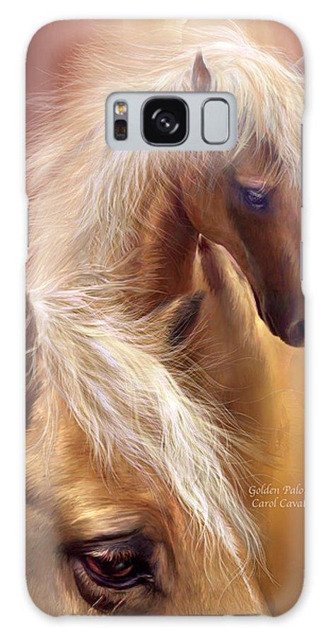 Palomino Galaxy S8 Case featuring the mixed media Golden Palomino by Carol Cavalaris