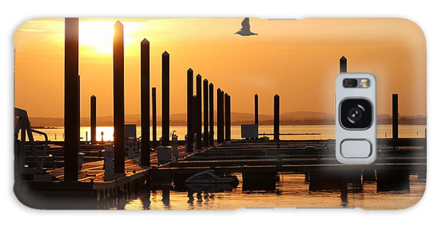 Nantasket Beach Galaxy S8 Case featuring the photograph Golden Pier At Sunset by Patricia Abbate