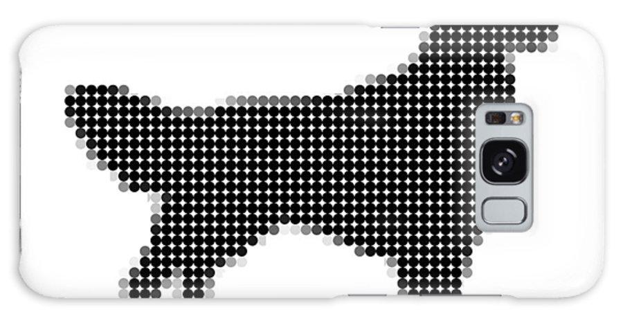Art Galaxy S8 Case featuring the digital art Golden Retriever - Dot Portrait by Agus Shodikin