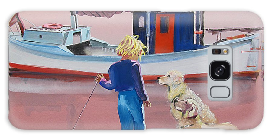 Retriever Galaxy S8 Case featuring the painting Golden Retrievers by Charles Stuart