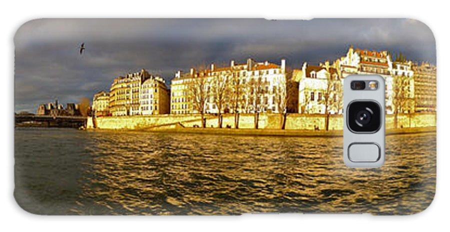 Paris Galaxy S8 Case featuring the photograph Golden Seine by Lexi Heft