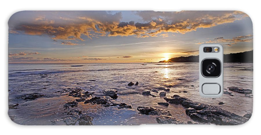 Lyme Regis Galaxy S8 Case featuring the photograph Golden Sky Lyme Regis by Ollie Taylor
