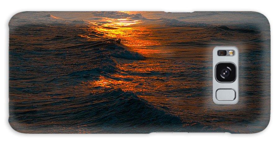 Golden Galaxy S8 Case featuring the photograph Golden Sun Set by Jeffrey Cohen