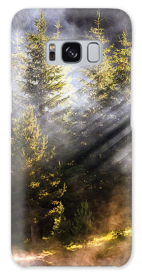 Mountain Galaxy S8 Case featuring the photograph Golden Sunbeams by Evgeni Dinev