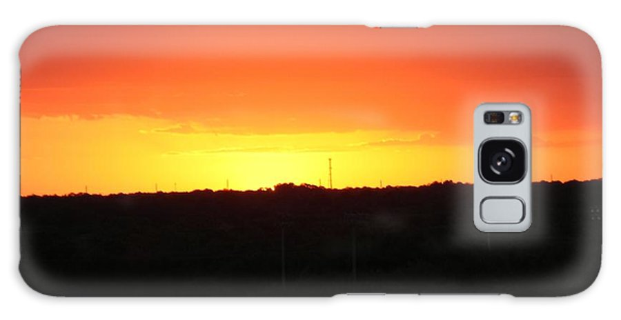 Orange Galaxy S8 Case featuring the photograph Golden Sunset by Leslie McRae-Matthews