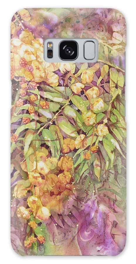 Flower Galaxy S8 Case featuring the painting Golden Wattle by Deborah Younglao