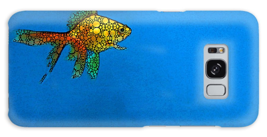 Goldfish Galaxy S8 Case featuring the painting Goldfish Study 4 - Stone Rock'd Art By Sharon Cummings by Sharon Cummings