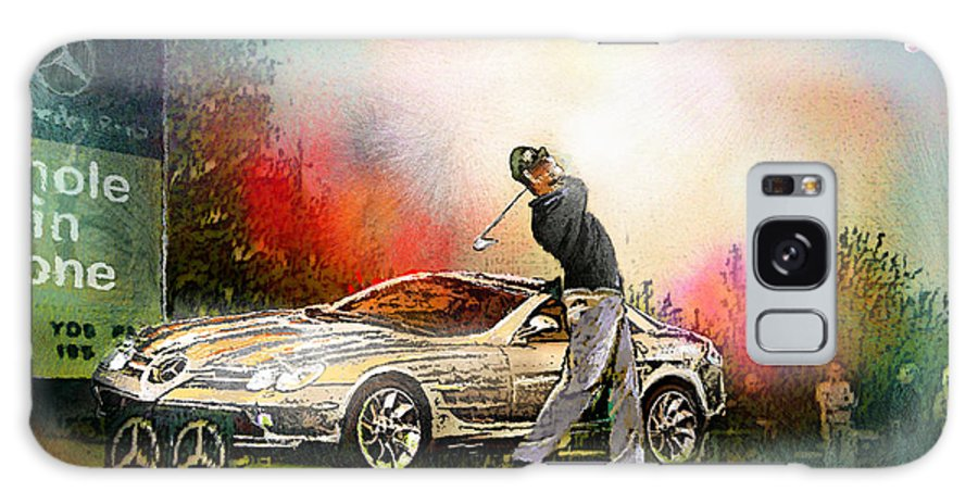 Golf Galaxy S8 Case featuring the painting Golf In Gut Laerchehof Germany 03 by Miki De Goodaboom