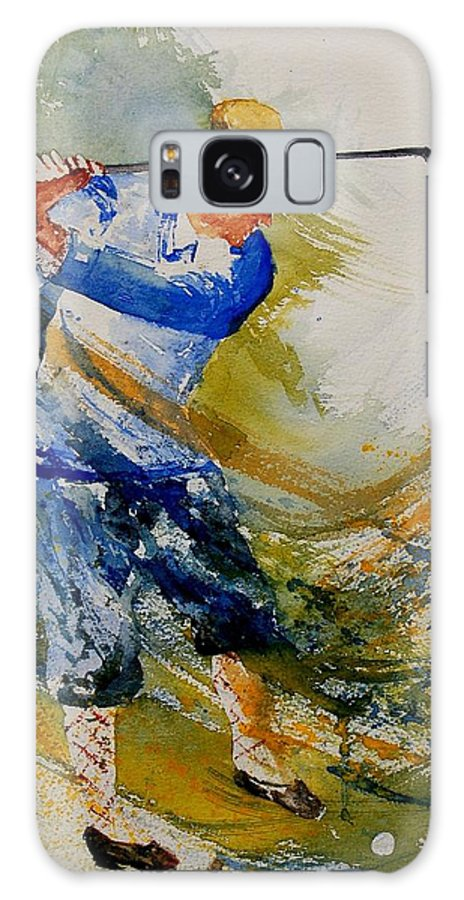 Golf Galaxy Case featuring the painting Golf Player by Pol Ledent