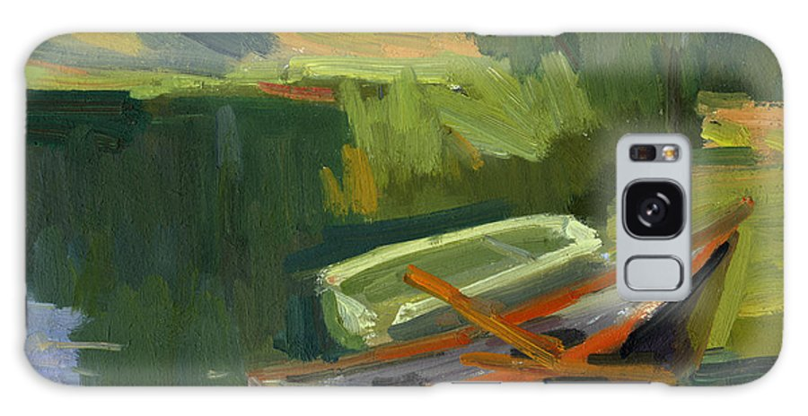 Boat Galaxy S8 Case featuring the painting Gone Fishing by Diane McClary