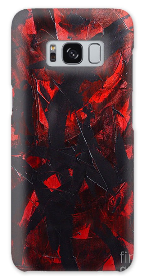 Abstract Galaxy S8 Case featuring the painting Good Bye by Dean Triolo