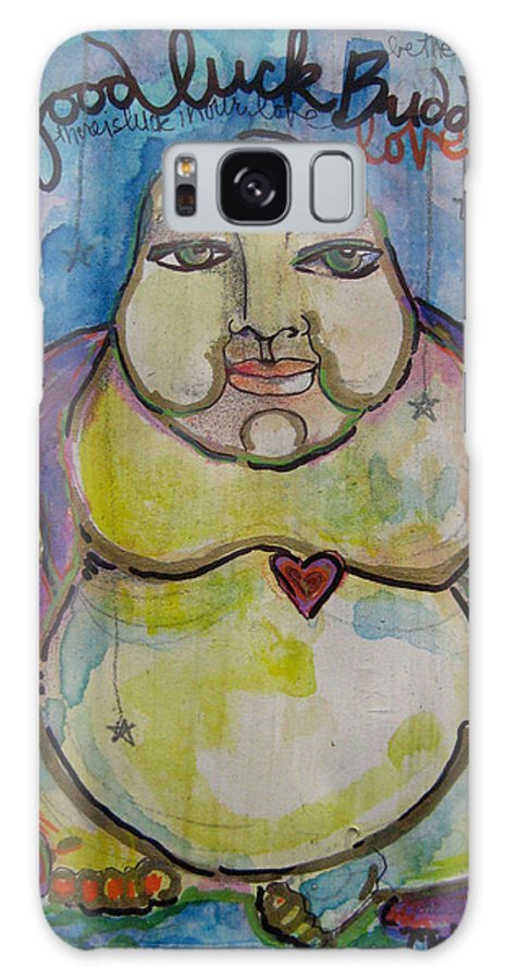 Buddha Galaxy S8 Case featuring the painting Good Luck Buddha by Laurie Maves ART