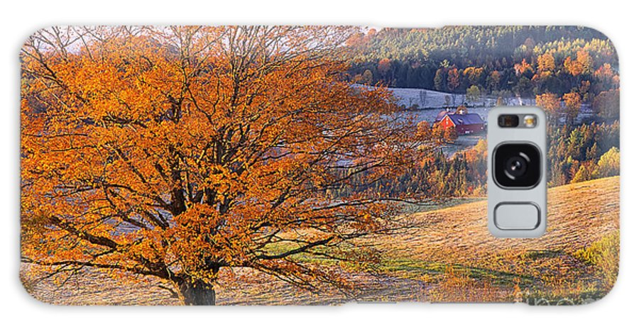 Fall Galaxy S8 Case featuring the photograph Good Morning Vermont by Alan L Graham
