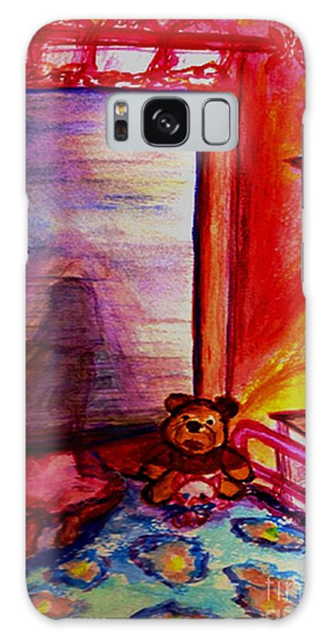 Angels Galaxy S8 Case featuring the painting Good Night Angels by Helena Bebirian