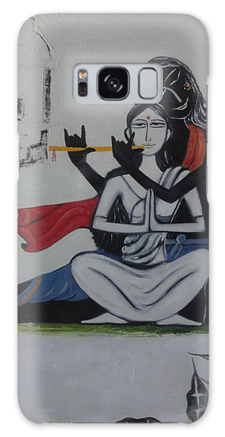 Gopi Galaxy S8 Case featuring the painting Gopi Bhaava by Savita Goyal