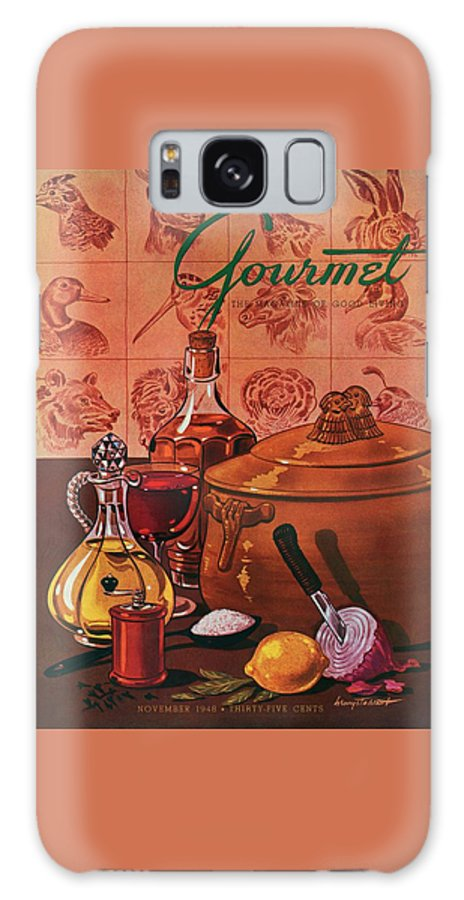 Illustration Galaxy S8 Case featuring the photograph Gourmet Cover Featuring A Casserole Pot by Henry Stahlhut