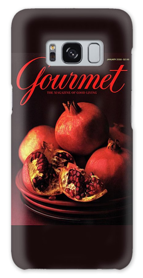 Food Galaxy S8 Case featuring the photograph Gourmet Cover Featuring A Plate Of Pomegranates by Romulo Yanes